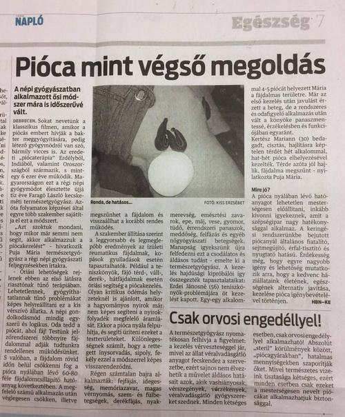 Puja Mária NyirokCentrum Debrecen - Orvosi Pióca kezelés, egy ősi gyógymód